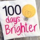 100 Days Brighter Applique