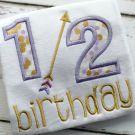 Half Birthday Applique