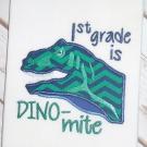 1st Grade Dino-mite Applique