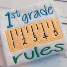 1st Grade Rules Applique