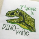 3rd Grade Dino-mite Applique
