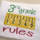 3rd Grade Rules Applique