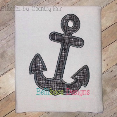 Anchor 2 Applique Embroidery Design Summer Nautical Beach