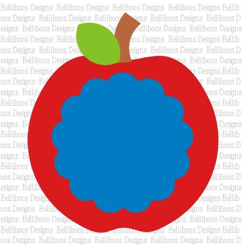 apple SVG, monogram SVG, cut files, SVG files, DXF Files