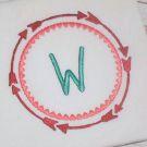 Arrow and Heart Monogram Frame