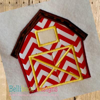 barn applique design embroidery