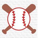 Baseball and Bats SVG