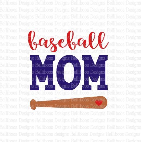 baseball mom SVG - baseball SVG - baseball cut file - baseball mom cut file - sports cut file - sports SVG