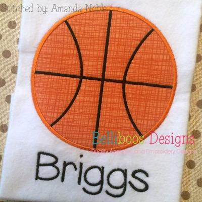 basketball applique design embroidery