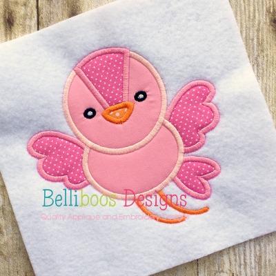 Bird Applique embroidery design spring summer