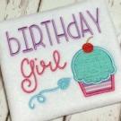 Birthday Girl Embroidery Saying