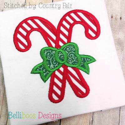 candy cane applique - christmas applique - holiday applique - candy applique - applique design - embroidery design