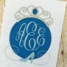 Cinderella Applique Monogram Frame