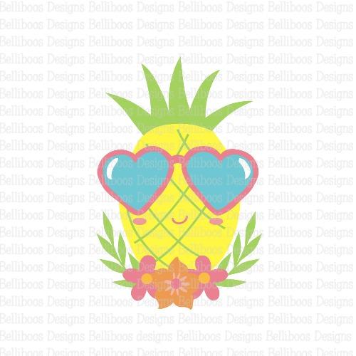 pineapple SVG - pineapple cut file - summer SVG - summer cut file - beach SVG - beach cut file