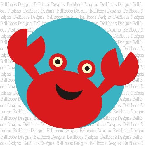 crab SVG, beach SVG, summer svg, cut files, SVG files, DXF files