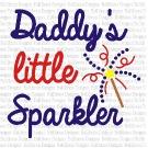 Daddy's Sparkler SVG