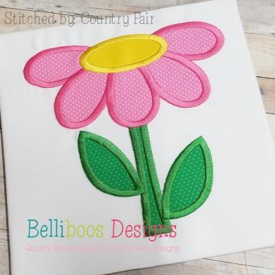 daisy applique desgin summer applique design spring applique design flower applique design