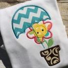 Flower and Umbrella Applique
