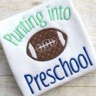 Preschool Football Applique