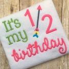 Half Birthday Girly Embroidery Design