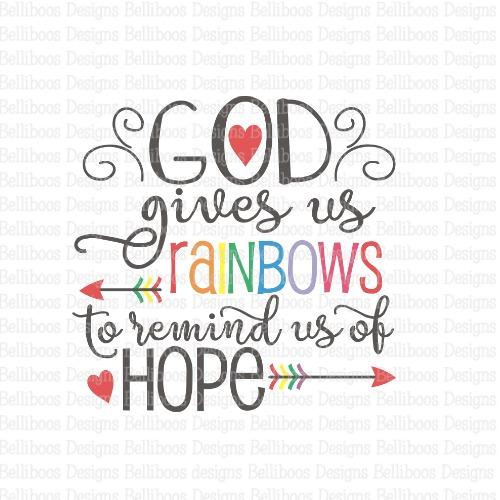 religious SVG, religious cut file, rainbow cut file, rainbow SVG, rainbow baby SVG, rainbow baby cut file
