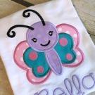 Happy Butterfly Applique Design