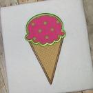 Ice Cream Cone Applique