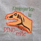 Kindergarten Dino-mite Applique