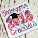 Kindergarten Graduate Applique Saying