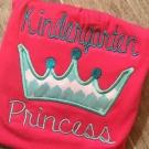 Kindergarten Princess Applique
