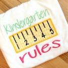 Kindergarten Rules Applique