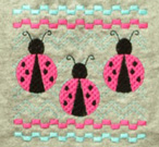 Ladybug Faux Smocking Embroidery Design