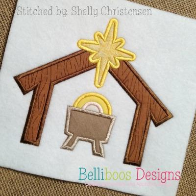manger applique, christmas applique, religious applique, holiday applique, applique design, embroidery design, christmas embroidery, holiday embroidery, manger embroidery