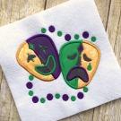 Mardi Gras Masks Applique Design