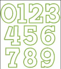 Applique Number Set, Applique Design