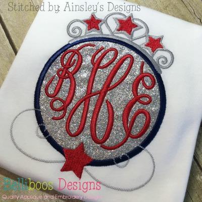 fourth of july applique design princess applique design