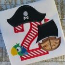 Pirate Applique Number Set