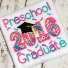 Preschool Graduate Applique Saying