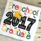 Preschool Graduate 2017 Applique Saying