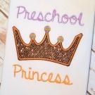 Preschool Princess Applique