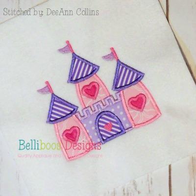 Princess Castle Applique Design embroidery