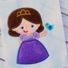 Princess with Bird Applique