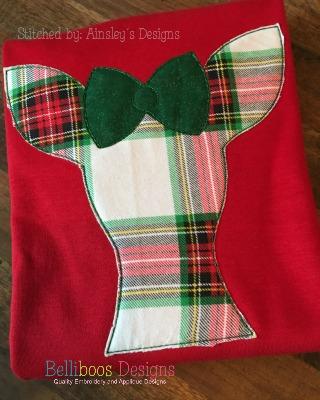 deer applique, reindeer applique, deer embroidery, applique design, embroidery design, Christmas Applique, Christmas Embroidery, woodland applique