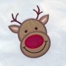Boy Reindeer Face Applique