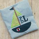 Sailboat Monogram Applique