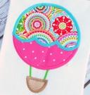 Scallop Hot Air Balloon Applique