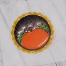 Pumpkin Scallop Patch Applique
