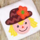Scarecrow Girl Applique