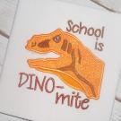 School Dino-mite Applique