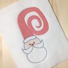Santa Face Sketch Embroidery Design